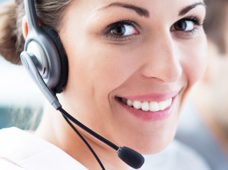 Smiling Customer Service Operator